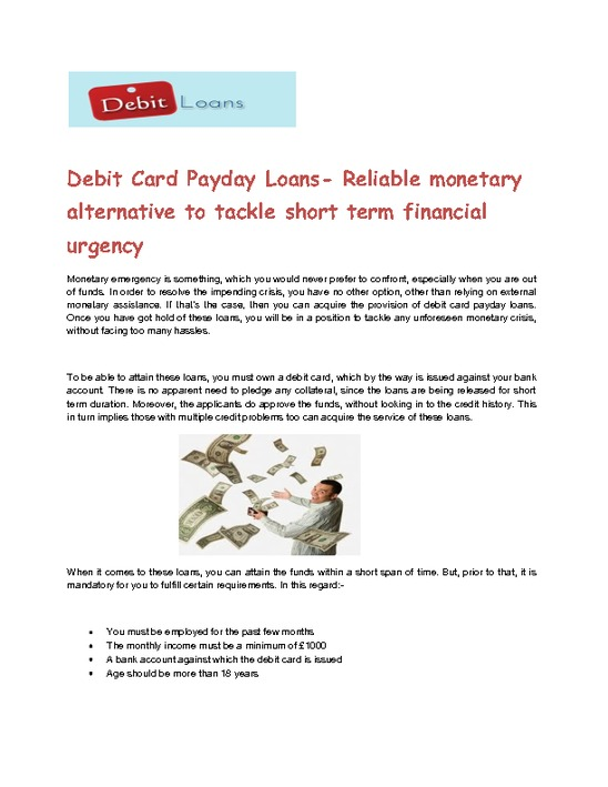 Payday loan Within the Telephone